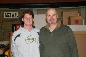 Boy Scout Connor DeJohn (L) and LVBG CEO, Kevin Cope (R)