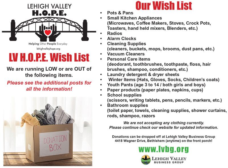 Donations Wish List