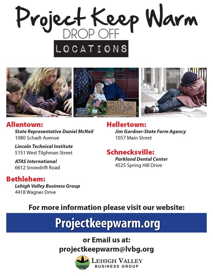 2016 Project Keep Warm Drop-Off Locations